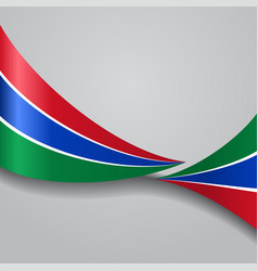 Gambian wavy flag vector