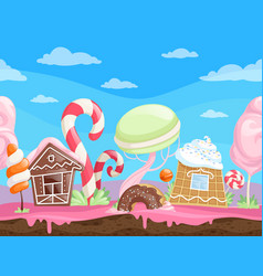 Game seamless sweet landscape fantasy delicious vector