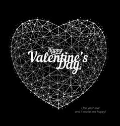 heart to happy valentines day consisting of vector image
