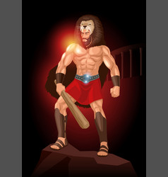 heracles a divine hero in greek mythology vector image