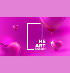 international lovely valentine day banner vector image