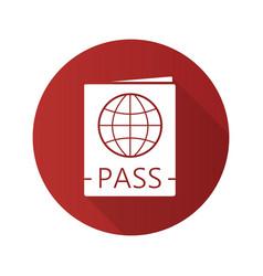 international passport flat design long shadow vector image