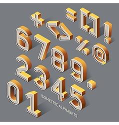 Isometric Alphabets vector image