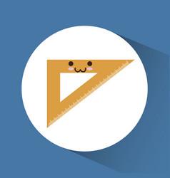 Kawaii school related icons vector