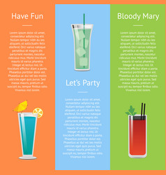 Let s party and have fun with bloody mary cocktail vector