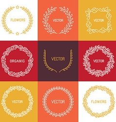 linear badges and frames vector image