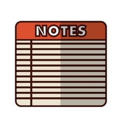 Lined notepad icon image vector