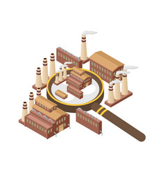 Magnifier with power energy plant nuclear vector