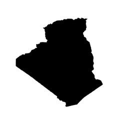 Map algeria isolated black vector