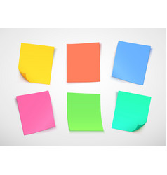 Multicolor paper notes post it note vector