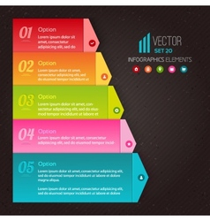 Numbered list of the five colorful elements vector image