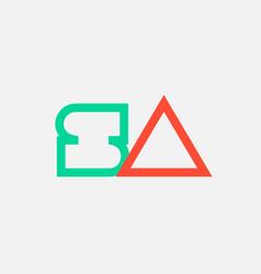 Orange green alphabet letter logo combination sa vector