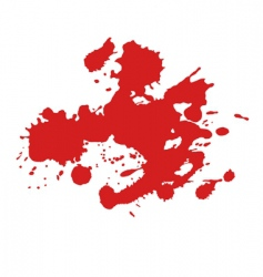 paint splat vector image
