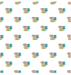 paper clips binders pattern seamless vector image