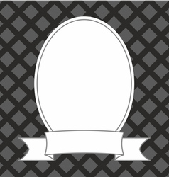 Photo frame on black and grey background vector image