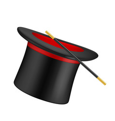 realistic top hat magician symbols top hat and vector image