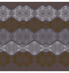 Retro pattern with linear shapes in vintage style vector