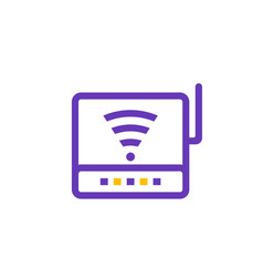 Router icon modem pictogram vector