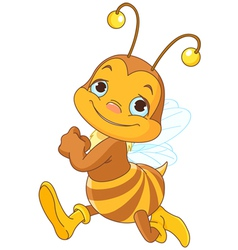 Running cute bee vector image