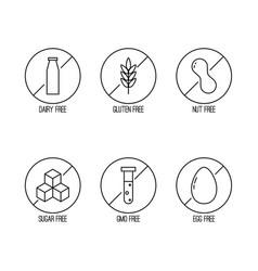 set food diet labels vector image