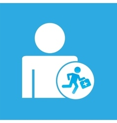 silhouette man with paramedic first aid graphic vector image