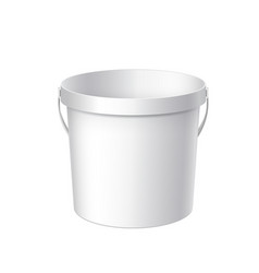 Small white plastic bucket vector