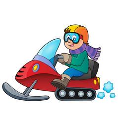 Snowmobile theme image 1 vector