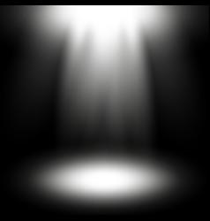 Spotlight white color vector