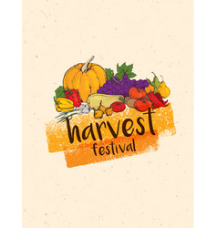 Thanksgiving autumn background vector