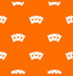 three aces playing cards pattern seamless vector image