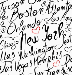 Travel USA destination cities seamless pattern vector image