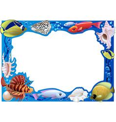 underwater frame vector image