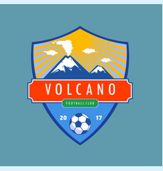 Volcano badge vector