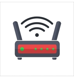Wi fi wireless router web icon in flat style vector