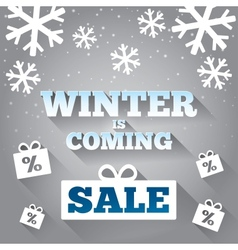 Winter is coming sale background Merry Christmas vector image