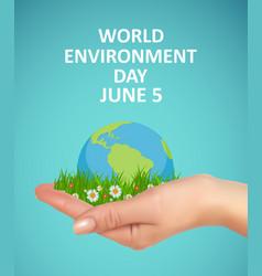 World environment day concept vector