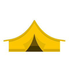 yellow tourist tent icon isolated vector image