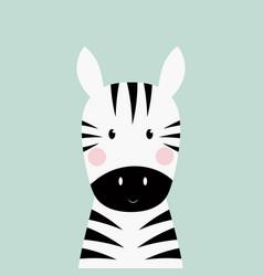 Zebra head card vector
