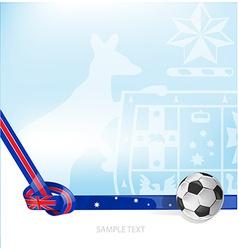 australian background soccer ball vector image