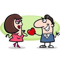 couple in love cartoon vector image