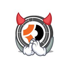 devil bitcoin dark mascot cartoon vector image vector image