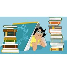 Fun librarian vector image
