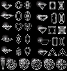 Set of shapes of diamond vector image vector image