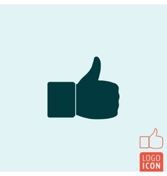 Thumb up icon isolated vector image