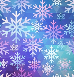 abstract seamless snow pattern vector image vector image