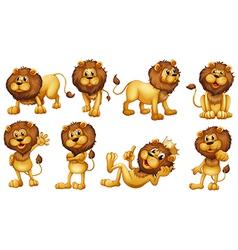 Brave lions vector image