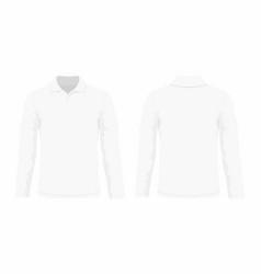 mens white long sleeve t shirt vector image vector image