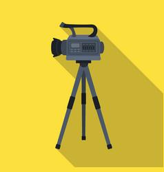 movie camera on a tripod making a movie single vector image
