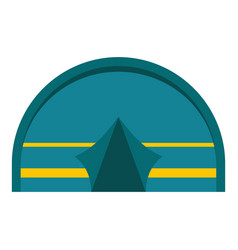 Blue touristic camping tent icon isolated vector