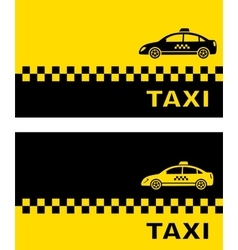 business card with taxi car vector image